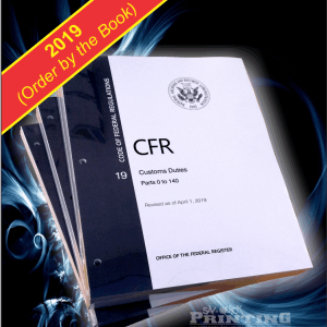 CFR Custom Duties (Loose Leaf w/ holes) Per set​