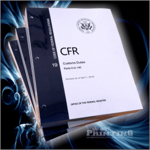 CFR Custom Duties (loose leaf w/ holes) 3 Book Set ​
