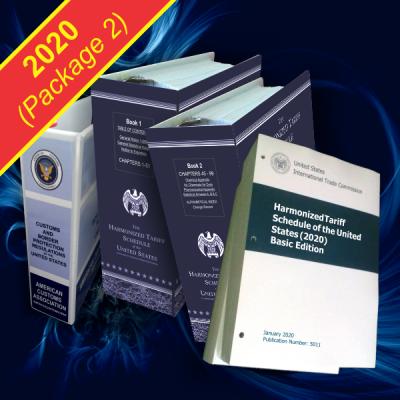 Harmonized Tariff Schedule HTSUS / Loose Leaf with 2 Binders & Custom Regulations Binder (2020)