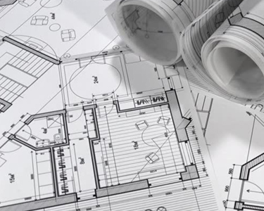Traditional Black and White Blueprints