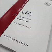 CFR-19 customs duties Volume 3 parts 200 to end showcase